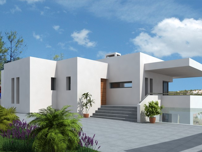 EXCITING MODERN STYLE, SEA AND GOLF VIEW VILLA