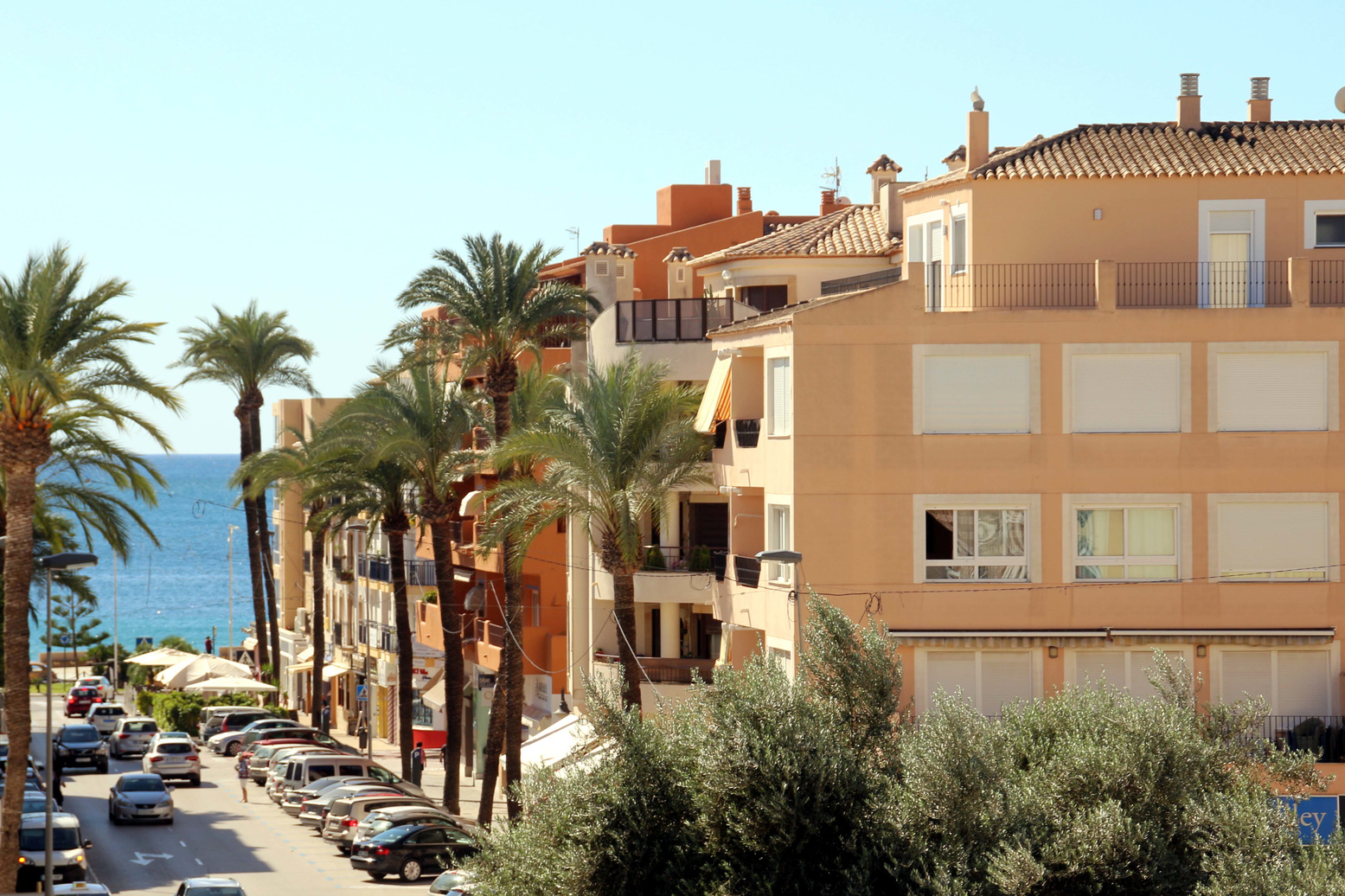 Two bedroom, two bathroom Moraira apartment with communal pool