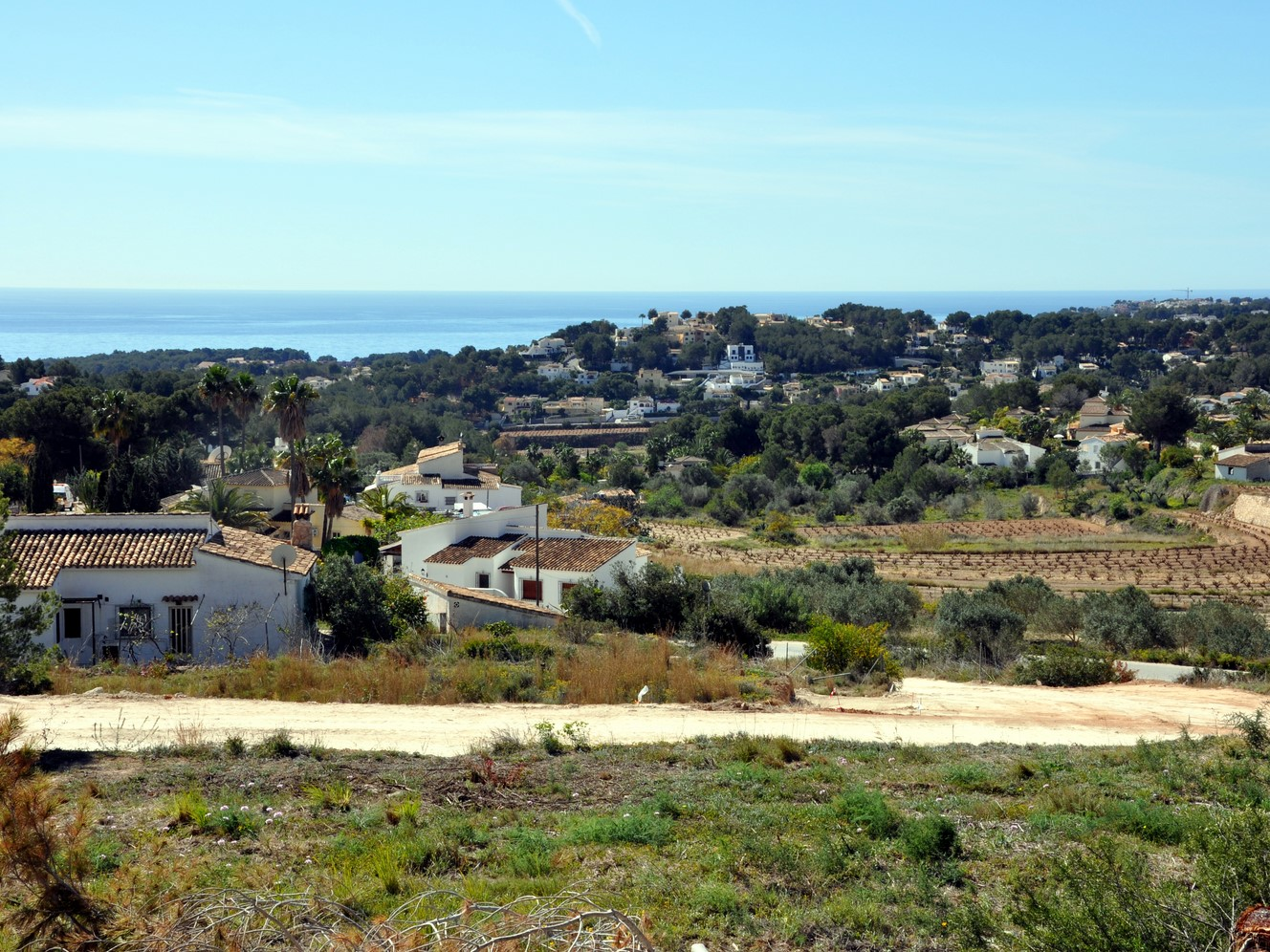 SEA VIEW BUILDING PLOTS IN MORAIRA