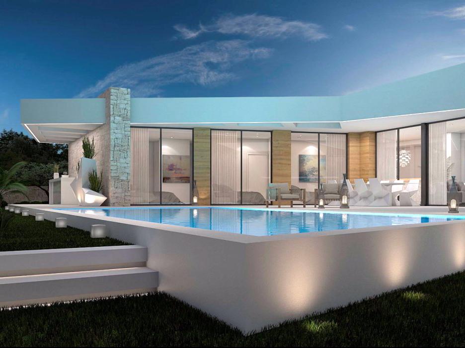 NEW BUILD MODERN STYLE, SINGLE STOREY, SEA VIEW VILLA